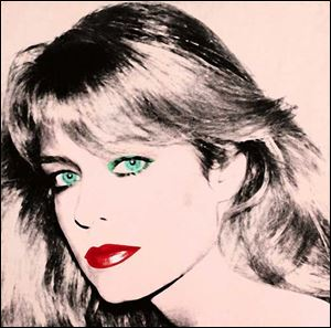 Warhol's portrait of Farrah Fawcett.