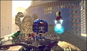 Scenes from LEGO Marvel Super Heroes.