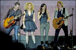 Little Big Town performs at the Country to Country in March in London.