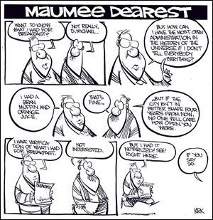 Kirk Walters' Maumee Dearest: Collins Administtration's Openess