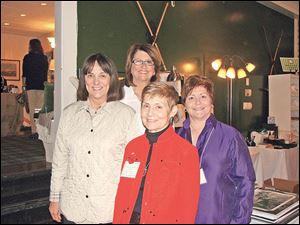 L-R, Judy Reitzel (in front), Luella Smith (in back), Connie Murphy (in red), and Mary Harman (in purple).