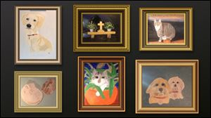 Some of the portraits painted by George W. Bush, 43rd President of UNited Sates of America, leader of the free world.