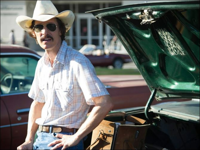 FEA DALLAS BUYERS 2.jpg Matthew McConaughey plays Ron Woodroof in Jean-Marc Vallee's fact-based drama, 'Dallas Buyers Club.'