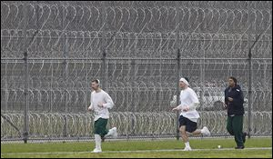 Inmates at Toledo Correctional Institution had the option to run or to walk the 5K event for the Komen Foundation.