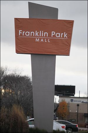 Temporary signage has been put up for the Franklin Park Mall along Sylvania Avenue in West Toledo.