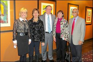 From left, Sondra Gibbons, Nancy and Jim Bingle, Karen Merrells, and Nasr Khan at the State of the Child event presented by Kids Unlimited