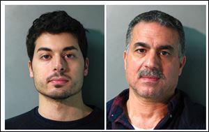 From the Nassau County Police Department in N.Y. are Karim Jaghab, left, and his father, Nabil Jaghab.