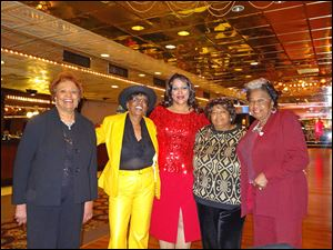 Members of the Toledo Club of The National Association of Negro Business and Professional Women's Clubs, Inc. included, from left, Barbara tucker, north central district governor emeritus and district adviser, Sandra Coleman, national president emeritus and district treasurer, Denise Black-Poon, Toledo club president, and event chairmen Dee Bates and Clara Brank.