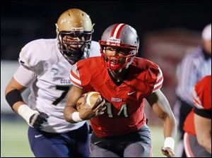 Central Catholic's DeShone Kizer threw for 5,684 yards and rushed for 1,211 in his career. He led the Irish to a 34-6 record in three years including a Division II state championship in 2012.