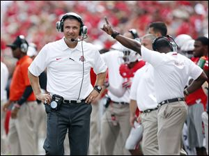 Ohio State coach Urban Meyer apologized to the media Monday after he accidentally uttered the 'M' word: Michigan.