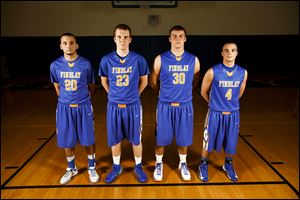 Findlay seniors are, from left, Michael Clark, Adam Twining, Austin Gutting, and Branden Miller.