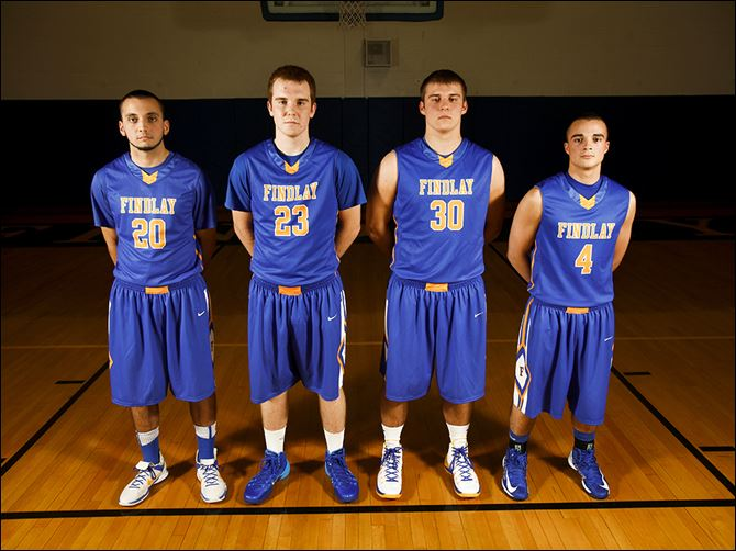 29s6findlay-1 Findlay seniors are, from left, Michael Clark, Adam Twining, Austin Gutting, and Branden Miller.