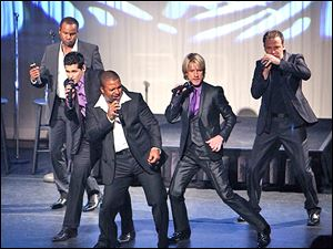 Members of Rockapella will perform with the Toledo Symphony at Stranahan Theater.