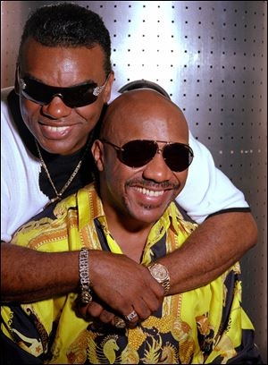 The Isley Brothers — Ronald, left, and Ernie — in New York in 2001.