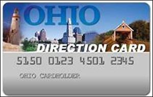 Ohio's food-stamp program issues cards that look like this for people to make their purchases at markets. Starting Jan. 1, there will be tougher work requirements for 134,000 Ohioans who receive benefits.