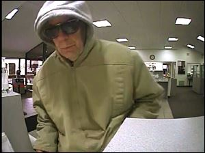 The man shown in this photo is wanted for robbing KeyBank, 1535 North Telegraph Rd. near Monroe.