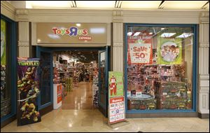 Toys R Us Express returns to the Franklin Park Mall for a second year. A spokesman said the toy retailer found that the 'pop-up' site drove traffic to its permanent store just outside the mall throughout the year.