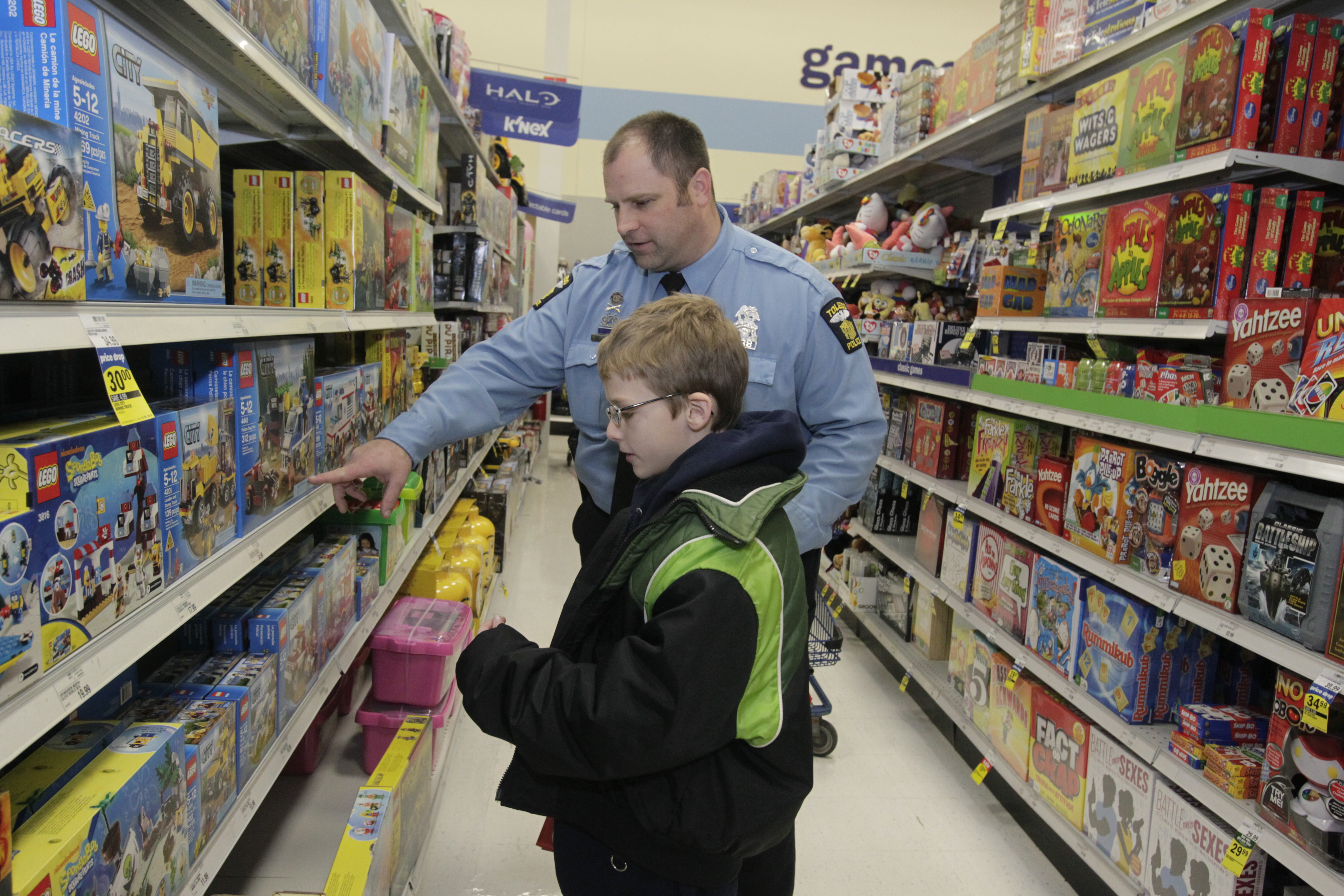 helping children humbles officers