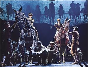 'War Horse' is 'an anthem for peace,' says Michael Wyatt Cox, who plays Albert in the national touring production.
