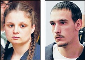 Angela Steinfuth, left, and Steven King II on Monday were indicted by a Lucas County grand jury.