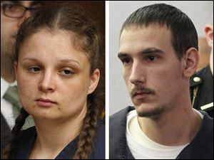Angela Steinfurth, left, and Steven King II, right.