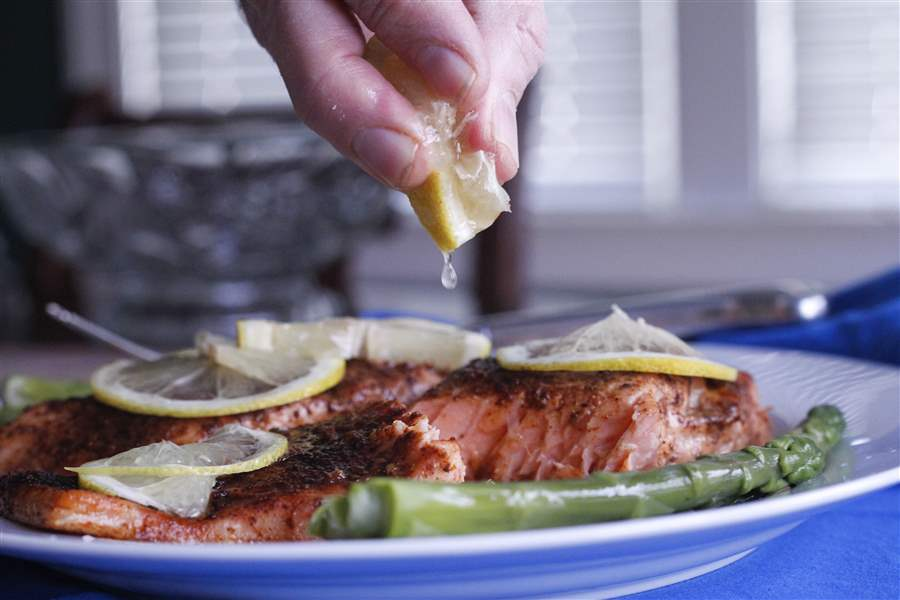 Roasted-salmon