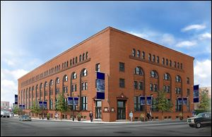 Renderings of what a restored Berdan Building building would look like in downtown Toledo.
