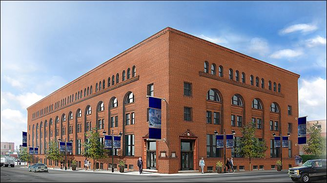 Developers on Tuesday released renderings what the restored Berdan Building in downtown Toledo look like. The project, estimated at $30 million, could be completed in 2015.