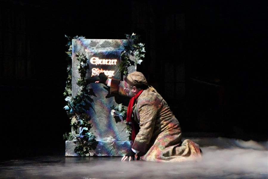 Ebenezer-Scrooge-played-by-Paul