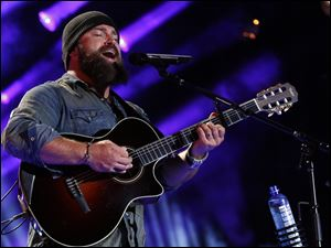 Zac Brown performing at the 2013 CMA Music Festival in Nashville,Tenn.