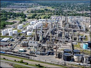 Marathon Petroleum's refinery in Canton, Ohio, will be on the receiving end of the company's new 49-mile pipeline that will transport shale liquids from eastern Ohio.