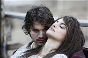 Emile Hirsch as Diego and Penelope Cruz as Gemma in the film 'Twice Born.'