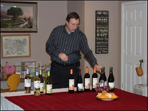 Bob Gall of Glazer's Distributing in Maumee offered a wine tasting.
