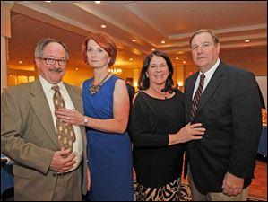 From left, Tom and Maureen Menacher, with Gail and Bob Zimmerman.