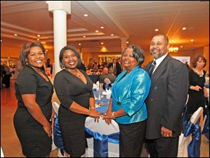 From left, Candace, Shakela, Brenda, and Varland Walker enjoy the Kidney Foundation event.