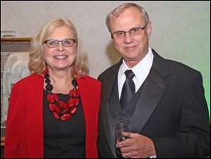 Janet and Fred Beening, of Whitehosue, attended this year's Mobile Meals Wine Gala.