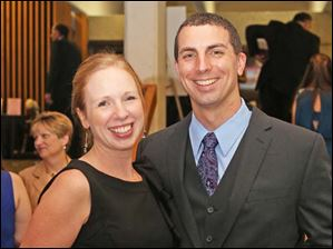 Jessica and Jeff Bair, of Sylvania, at the Mobile Meals Wine Gala.