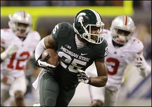 Michigan State's Keith Mumphery makes a 72-yard touchdown reception against Ohio State.