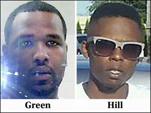 Shooting victims Darnell Green, left, and John Hill, right.
