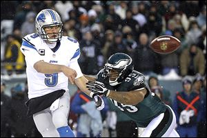 Lions QB Matthew Stafford has thrown seven interceptions and lost two fumbles in a three-game losing skid.