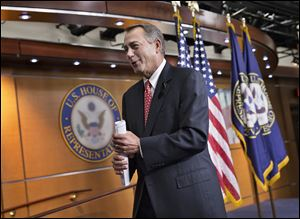 House Speaker John Boehner (R., Ohio) blasted conservative groups that criticized the bipartisan budget compromise without knowing its details.