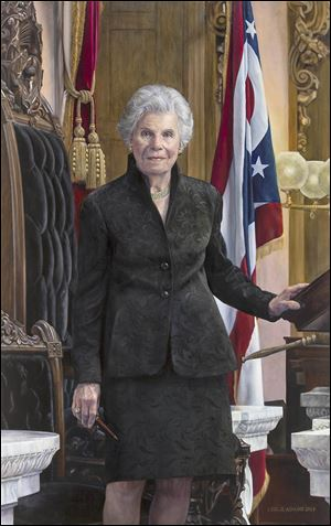 A portrait of Jo Ann Davidson, Ohio's only female speaker of the House.