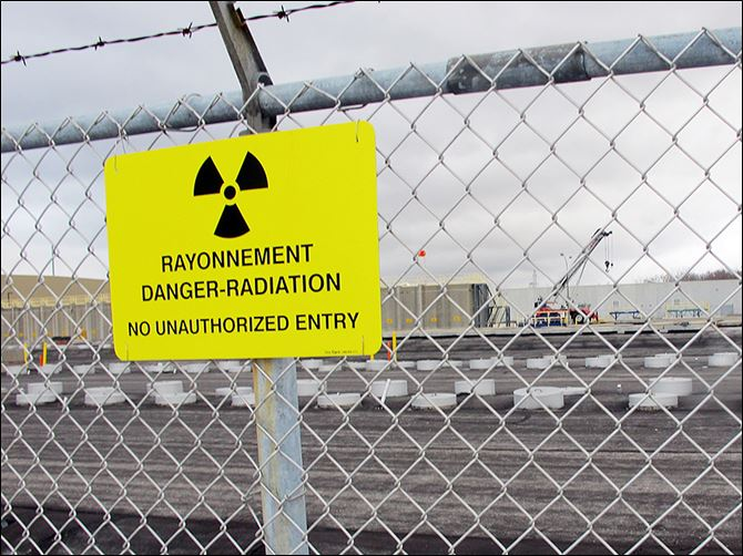 n1danger-1 Rows of chambers hold intermediate-level radioactive waste in shallow pits at the Bruce Power nuclear complex near Kincardine, Ont.