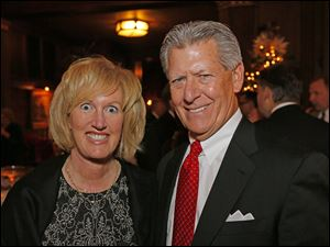 Teresa and Larry Beebe at the Block Communications party.