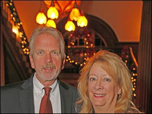 John and Karen Yark at the Block Communications party at the Toledo Club.