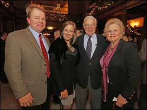 Scott and Molly Reams Thompson with Frazier and Susan Reams at the Block Communications party.