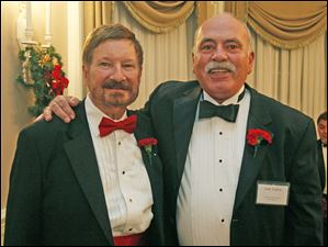 John Erkert, left, and Sam Fallon at the 36th annual Holiday with a Heart Gayla for the LGBT Community and Friends.