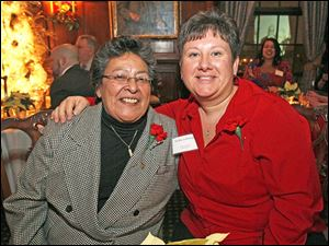 Juanita Vasquez, left, and Vicky Lohmeyer at the 36th annual Holiday with a Heart Gayla for the LGBT Community and Friends.