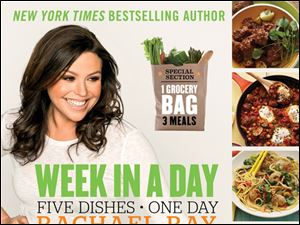 Cover of Rachael Ray's newest book 'Week in a Day.'