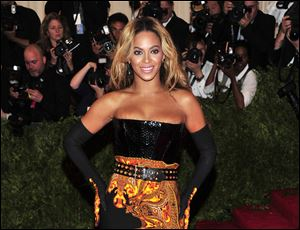 Singer Beyonce at The Metropolitan Museum of Art's Costume Institute benefit in New York in May.